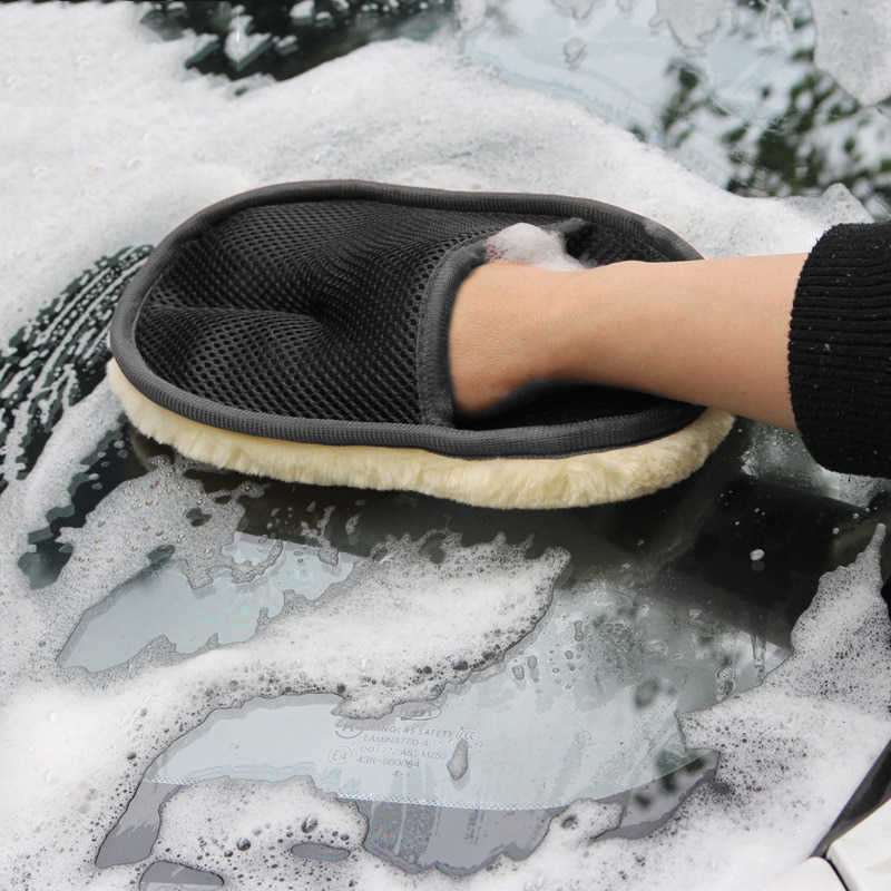 Car Cleaning Wool Cashmere Car Wash Glove Cleaning Mitt Washing Brush Car Cleaning Tools Motorcycle Washer Dropshipping