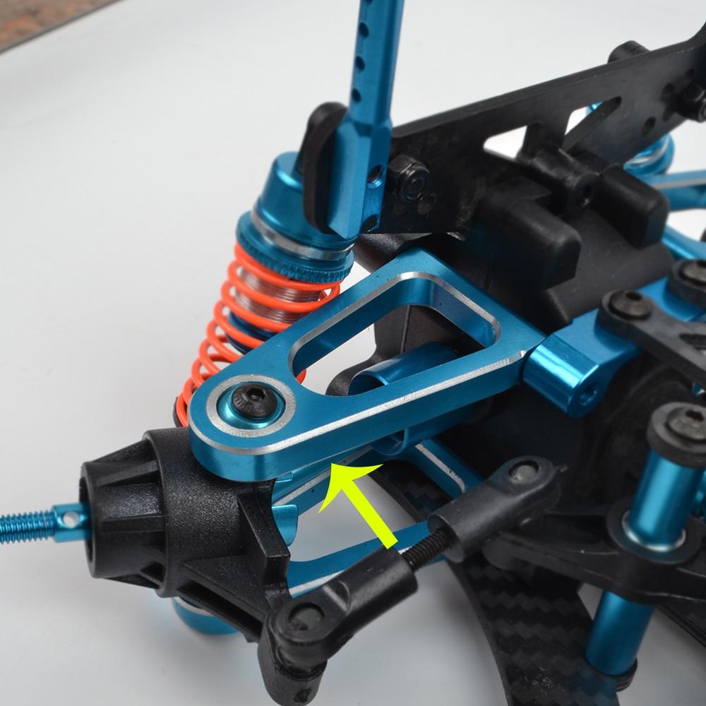 1 Set TT01 Aluminum Front Rear Steering cup Suspension Arm for Tamiya TT-01 TT01E 1/10 RC Car Upgrades Accessories enlarge