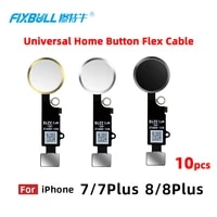 10pcs fixbull universal home button flex cable for iphone 7 8 plus 7plus 8plus return key function replacement parts no touch id