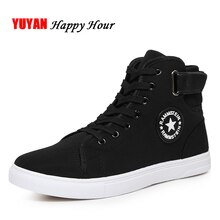 Mode baskets hommes toile chaussures haut haut homme marque chaussures hommes chaussures décontractées mode noir baskets