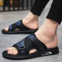 ventilation men outdoor slippers mens indoor beach summer home slides sandals light and comfortable shoes house man