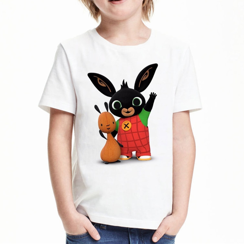 bing cartoon t shirt for girls tshirt cute girl t-shirt Children's Clothing kids clothes boys Bing Rabbits graphic t shirts