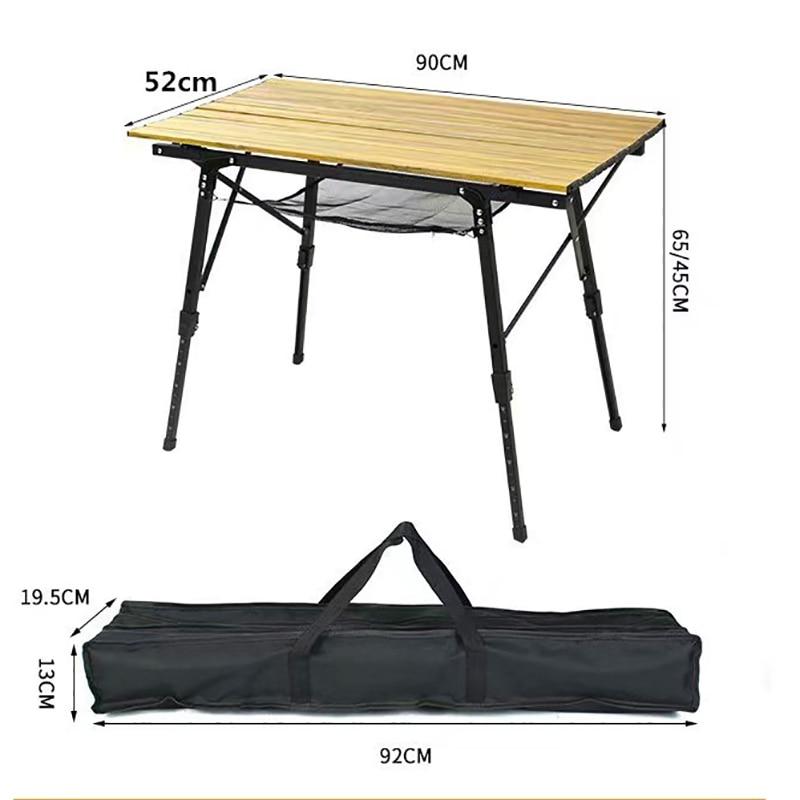 طاولة تخييم قابلة للطي في الهواء الطلق شواء الظهر سبائك الألومنيوم مكتب سرير الكمبيوتر المحمولة دائم الشواء خفيفة الوزن