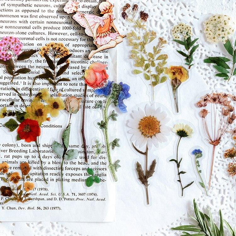 1 paquet belle fleur florale journal autocollant étiquette Scrapbooking autocollant manuel décoration bricolage fabrication