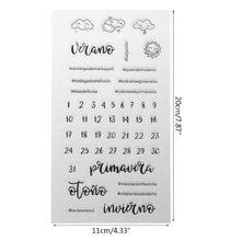 Spanje Weer Kalender Siliconen Afdichting Stempel Diy Scrapbooking Fotoalbum Decor