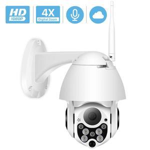 Wireless 1080P PTZ IP Camera Wifi Outdoor Speed Dome Wifi Security Camera Pan Tilt 4X Digital Zoom 2MP Network CCTV Surveillance
