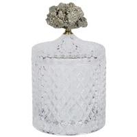 crystals glass candy jar natural pyrite stones nut storage box glass jar wedding party home decor