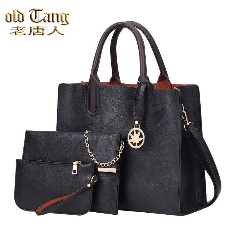 OLD TANG 3 In 1 Shoulder Hand Bags for Women 2021 High Quality Pu Leather Ladies Handbags Famous Bra