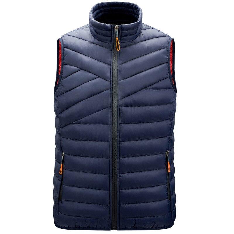 Осенне-зимний мужской жилет, легкая пуховая хлопковая куртка без рукавов, мужской теплый жилет, Повседневная безрукавка, мужская одежда