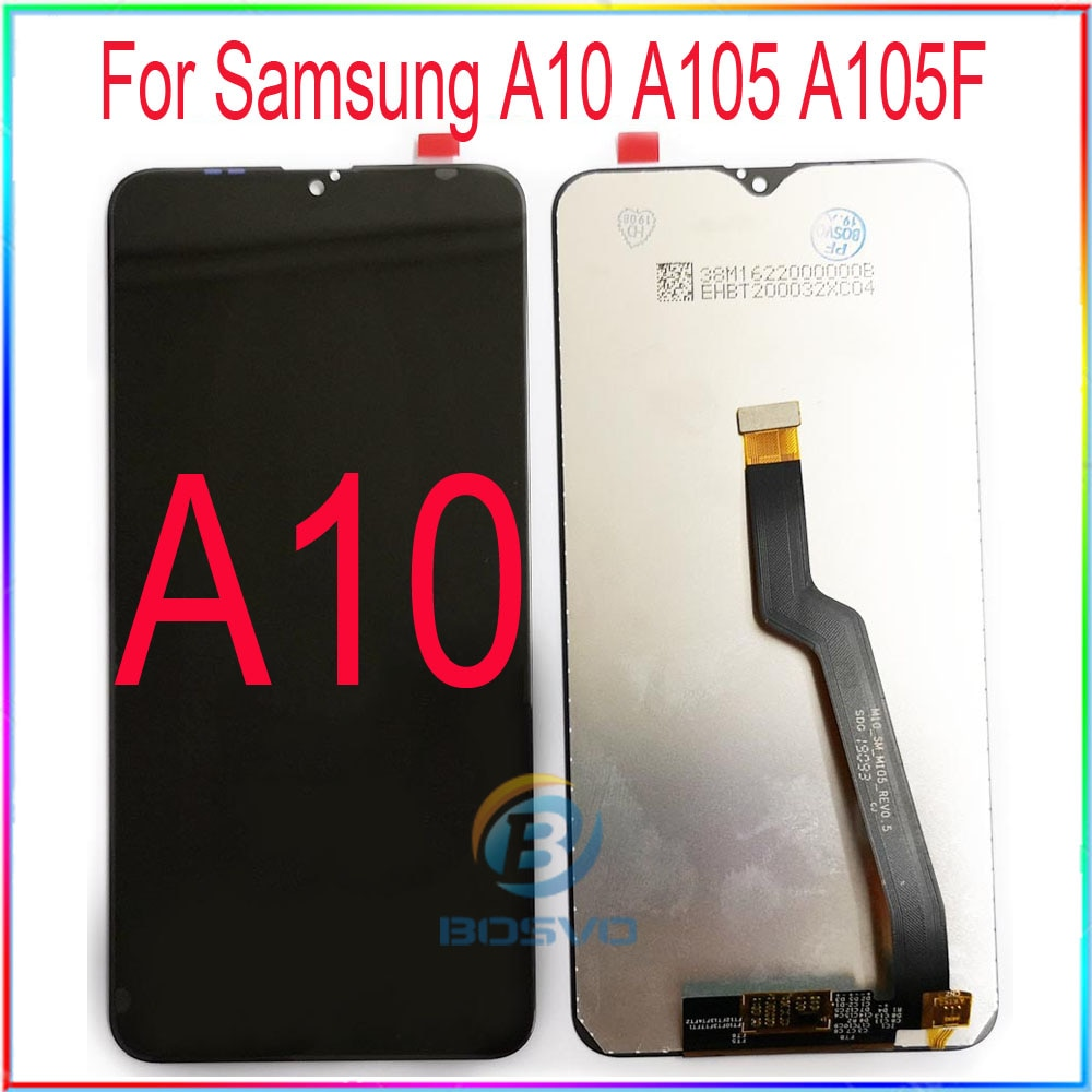 A10 para Samsung LCD M10 pantalla A105 M105 con touch con piezas de repuesto de montaje de Marco