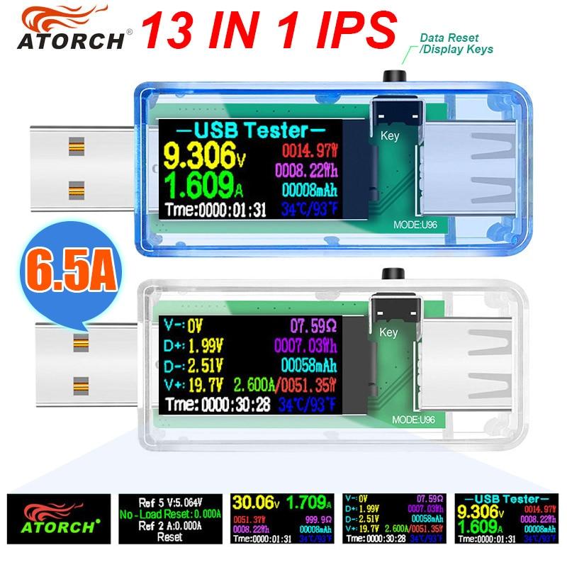 USB Tester Current Voltage Indicator Electric Ammeter Power Meter Charge Indicator DC Digital Multimeter Voltmeter Wattmeter
