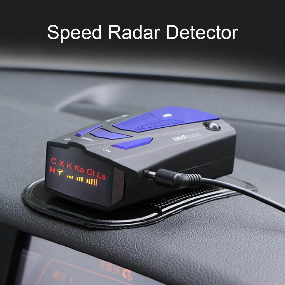 V7 12 в 360 градусов скоростной радар-детектор большой радиус действия голосовое оповещение Лазерный Радар-детектор для транспортных средств