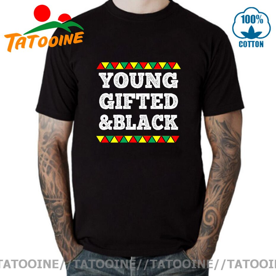 Camiseta Tatooine Vintage de jóvenes dotados y negros, camiseta negra del Mes de la historia de los hombres, camiseta africana americana, camiseta negra Live Matter
