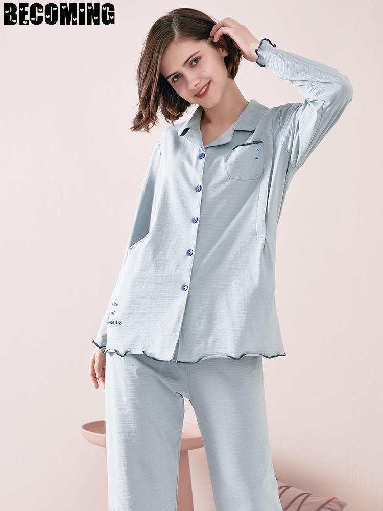 Big Maternity Robe Cotton Pregnancy Nightgown Long Sleeve Maternity Nursing Pajamas Maternity Breastfeeding Sleeping Clothes enlarge