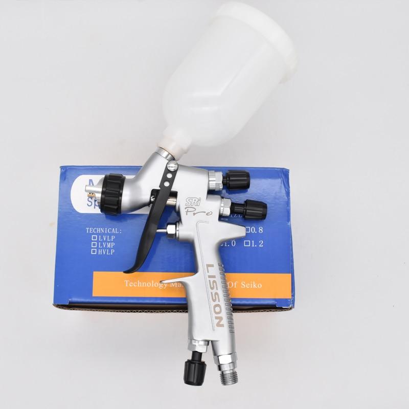 بندقية رذاذ إصلاح صغيرة سري برو 1.2 مللي متر تغذية الجاذبية HVLP رشاش دهان مع كأس 250 مللي الهواء الطلاء أداة المهنية بندقية رذاذ