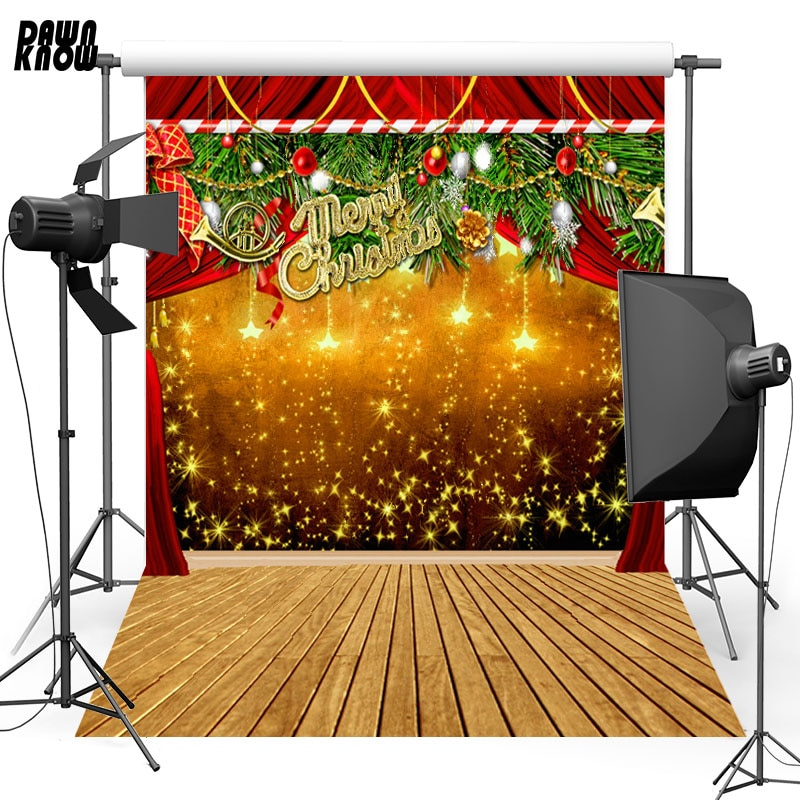 DAWNKNOW Shimmer Stage Vinyl Photography Background For Baby Floor Photo Shoot Backdrop For Christmas Photo Studio L855