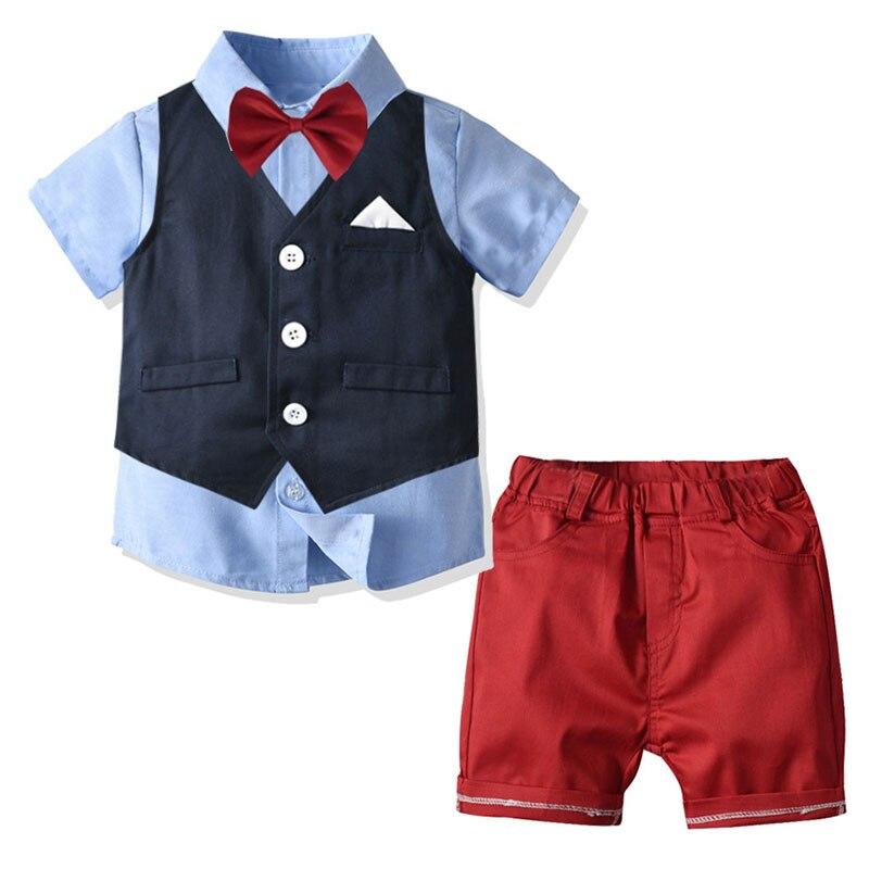 Conjunto de roupas infantis, conjunto de roupas infantis para casamento, colete formal + shorts + camiseta, aniversário, festa de casamento, cerimônia traje de fantasia,