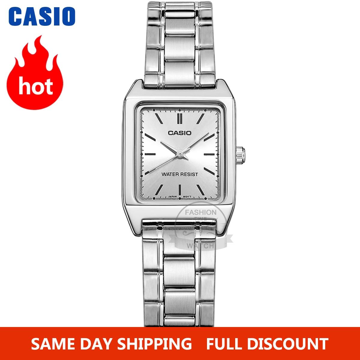 Casio Watch women Luxury Brand Analog Leather Square dial  Women's Wrist Watch Female Quartz Clock Relogio Mulher MTP-V007