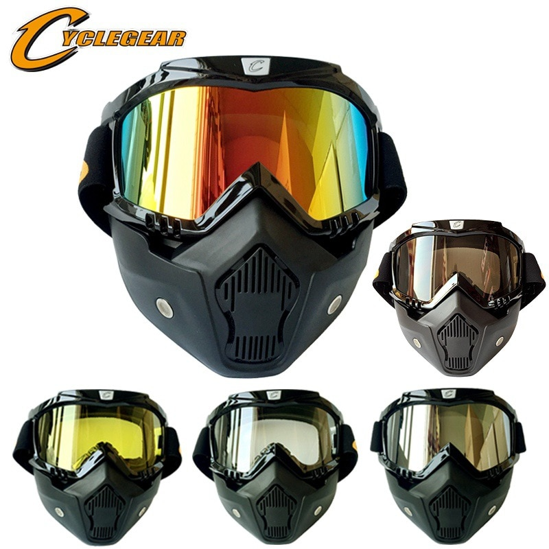 Motorcycle helmet riding mask goggles suit outdoor cross-country goggles detachable mask enlarge