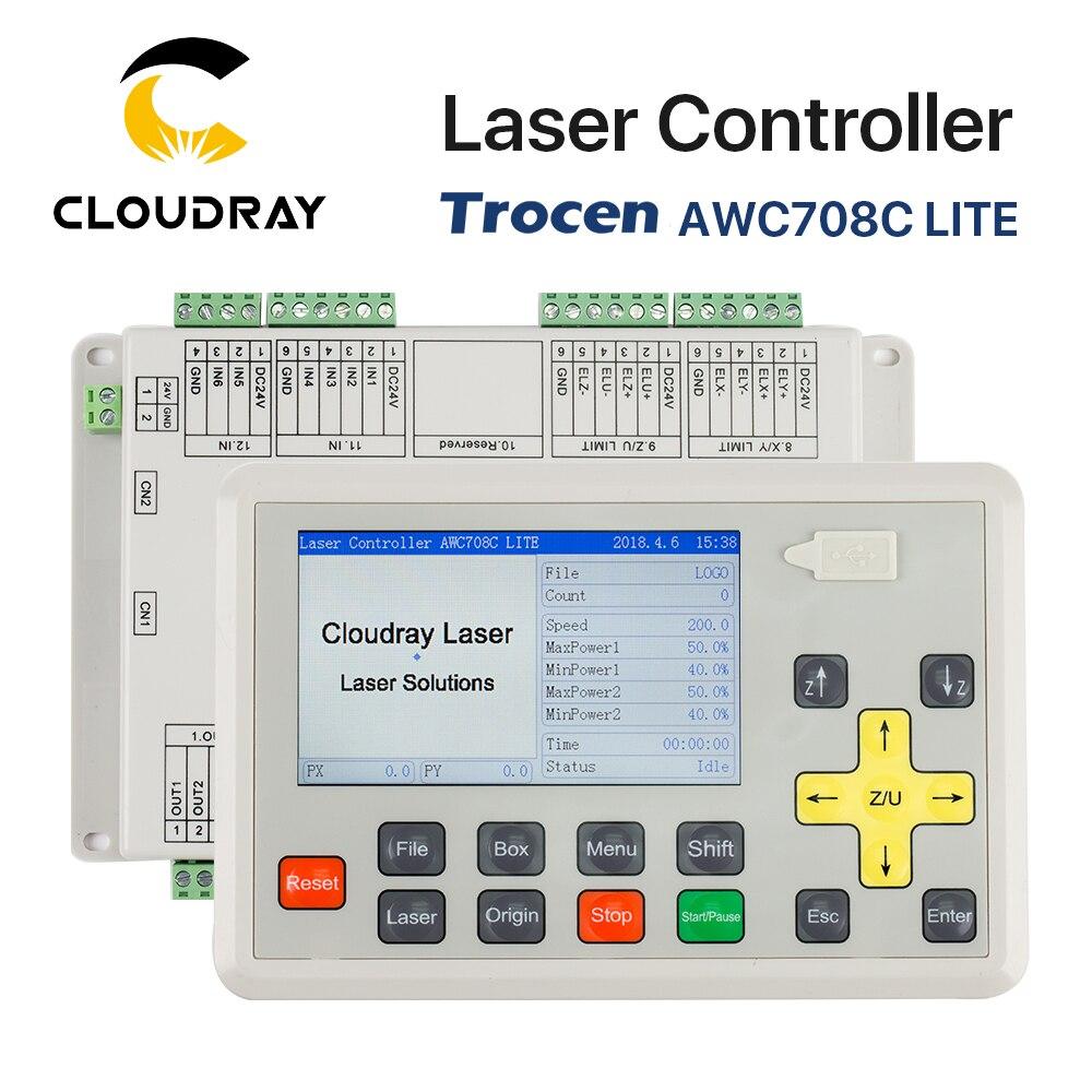 Sistema de controlador láser de Co2 para máquina de grabado y corte por láser AWC708C LITE de Cloudray Trocen Anywells AWC708C