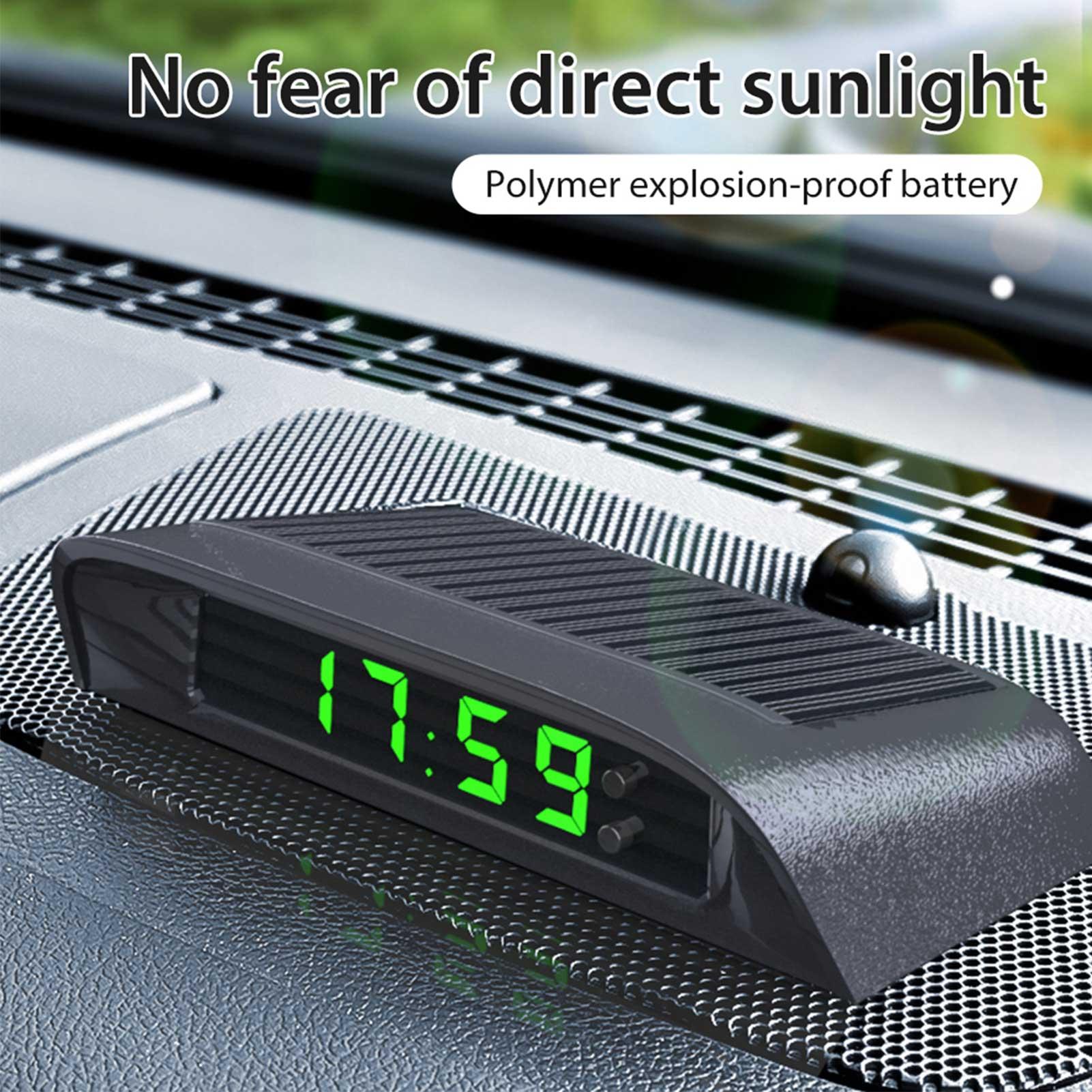 Автомобильные часы, внутренние цифровые часы с питанием от солнечной батареи, 24 часа, автомобильные часы со встроенным аккумулятором, декор...