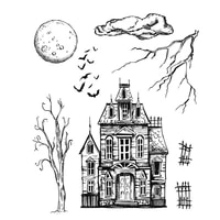 mysterious old house transparent clear stamp diy silicone seals scrapbooking card making old castle photo album decoration stamp