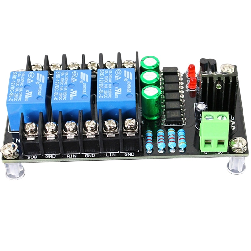 300W Digital Amplifier Speaker Protection Board 2.1 Channel Relay Speaker Protection Module Boot Delay DC Protect