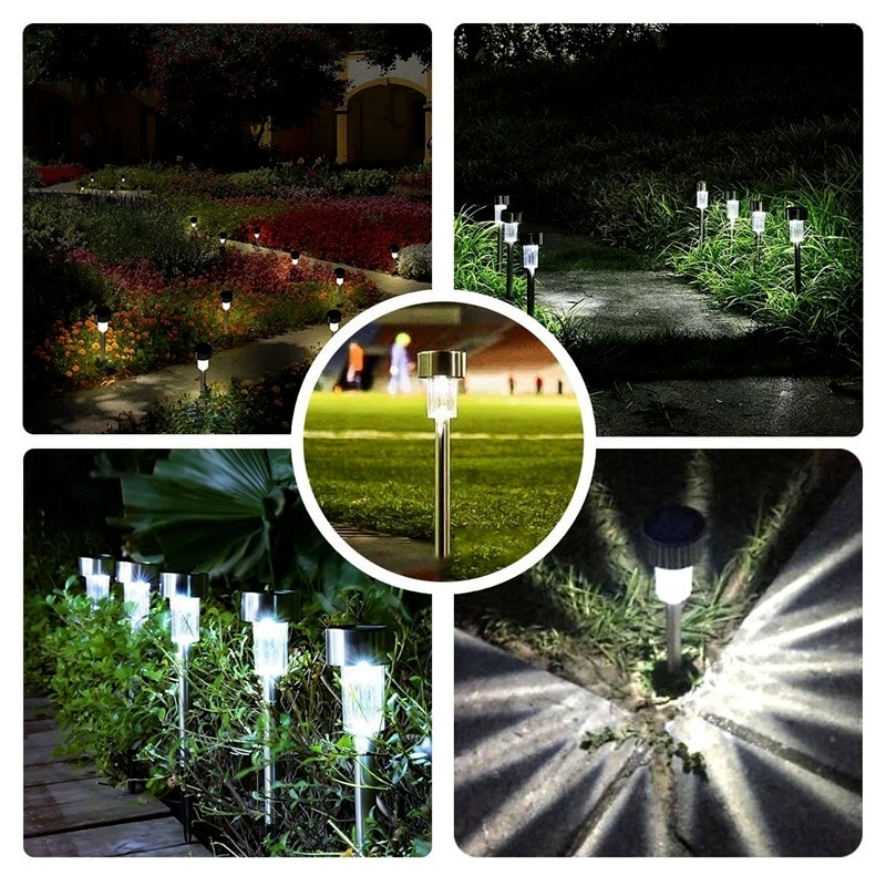 6 pcs solar led pathway driveway light dock path step road safety marker white blue red light Solar Led Light Outdoor Lawn Lamps Pathway Lights Outdoor Waterproof Solar Garden for Garden Path Yard Patio Driveway Walkway
