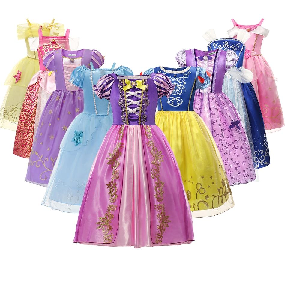 Christmas Girls Princess Dress Disney Halloween Costume Birthday Party Clothing Children Kids Vestidos Frozen Girls Fancy Dresse