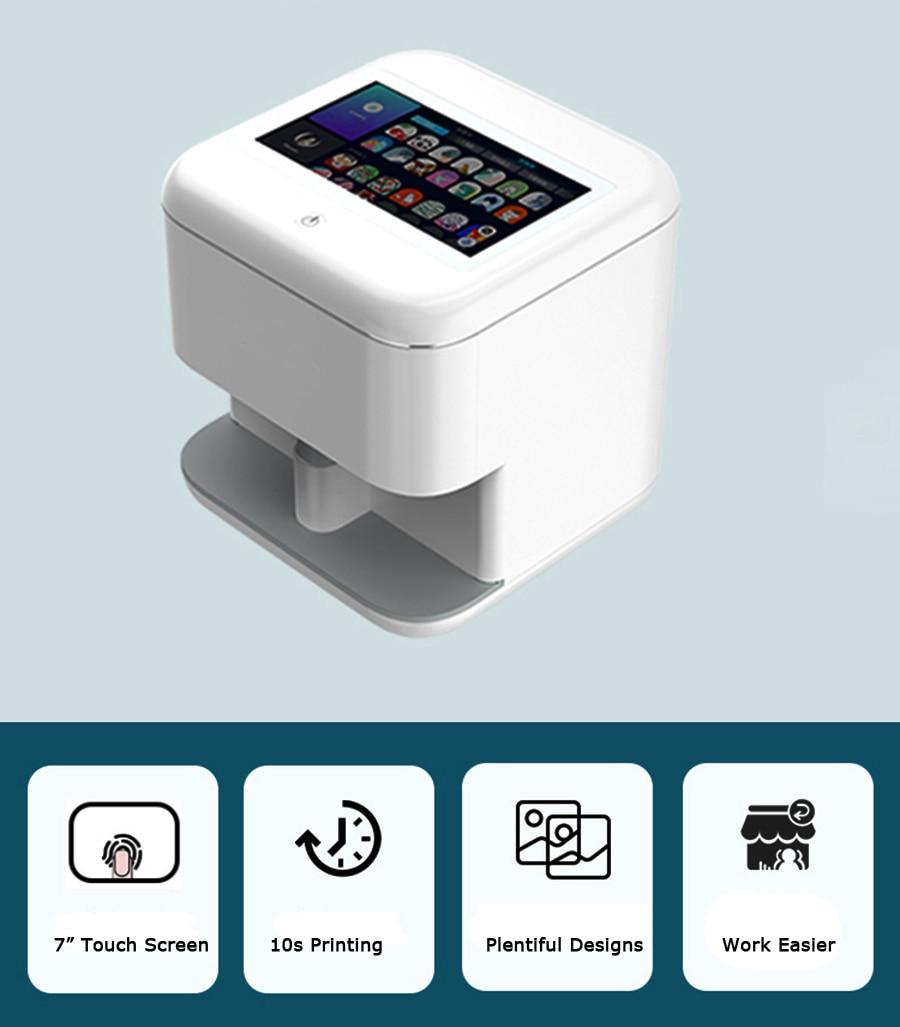 Home Use Portable Easy Fashion WIFI Control Intelligent Automatic Nail Printer Machine Manicure Nail Art Printer