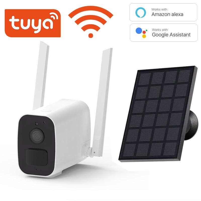 Tuya WIFI 1080P Camera Strong WiFi Signal 10000mAh Rechargeable Battery Wireless  IP66 Battery Camera Support Google Alexa
