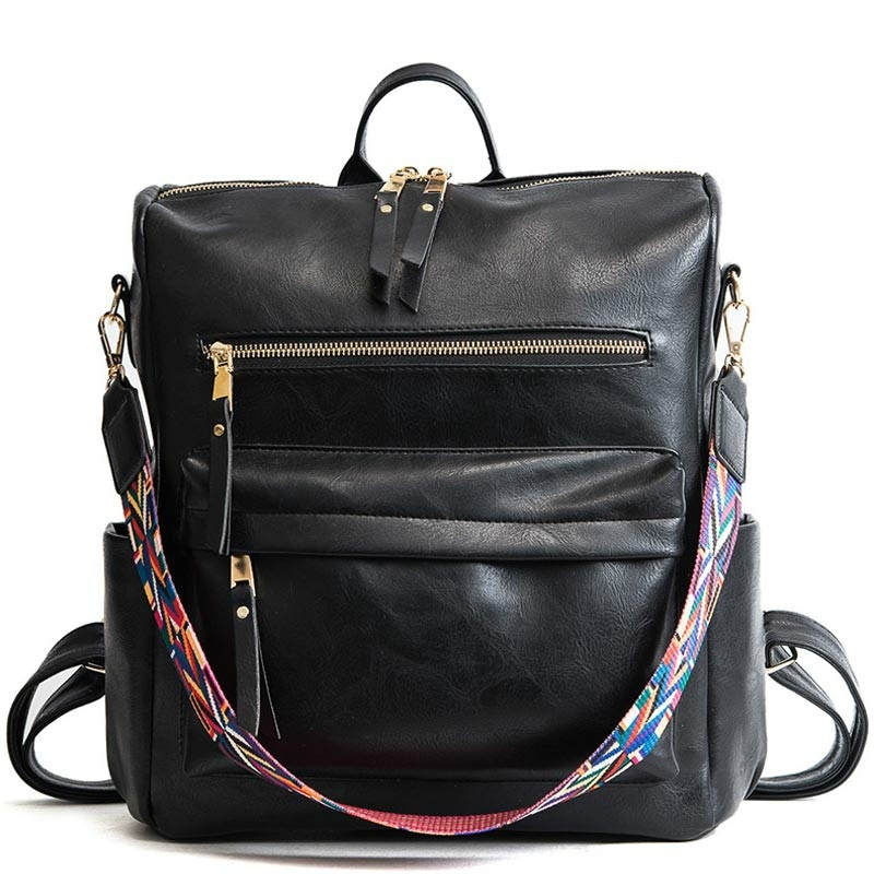 Рюкзак-трансформер в стиле ретро, многофункциональный Простой повседневный ранец из искусственной кожи, вместительный дорожный рюкзак, 1 ш...