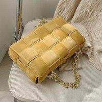 OLSITTI Women Crossbody Weave Flap Bags for Women 2021 Leather Chain Shoulder Messenger Bags Female Handbag And Purse