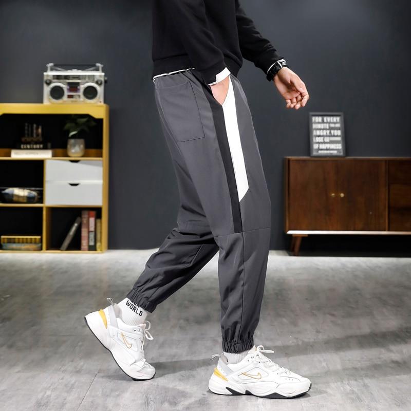 Новинка 2021, модные хлопковые шаровары, Мужские Молодежные повседневные брюки, мужские мешковатые брюки большого размера, Прямая поставка, у...