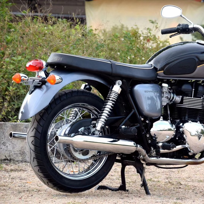 Soporte de pie central de acero al carbono negro para motocicleta, soporte central de montaje para Triumph BONNEVILLE T100