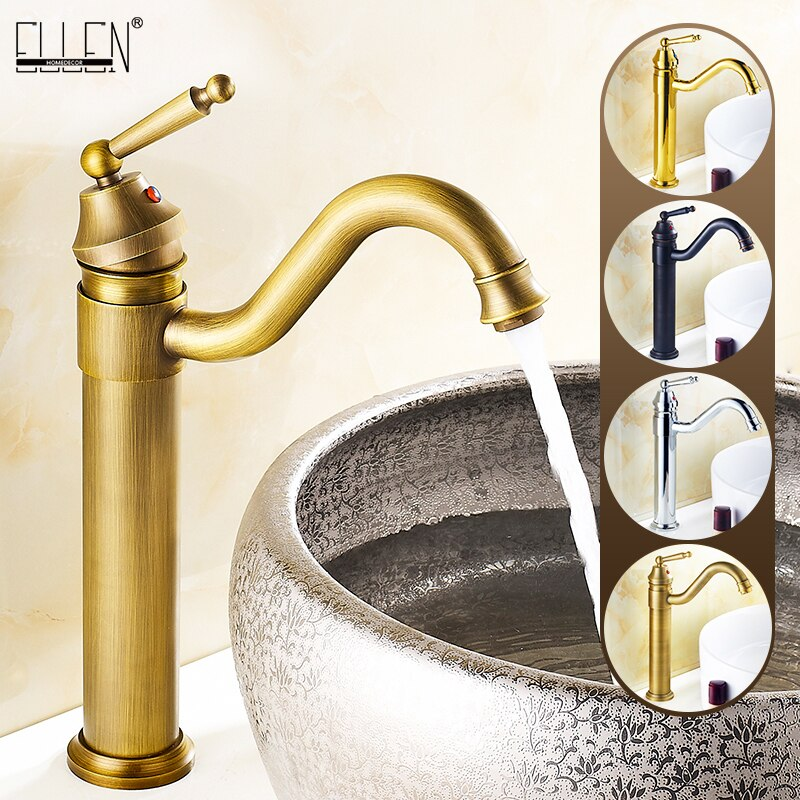 Grifo de fregadero alto de baño, fregadero de giro de 360 grados, grifos de lavabo de baño caliente y frío, grifo mezclador de agua, grúa EL5002