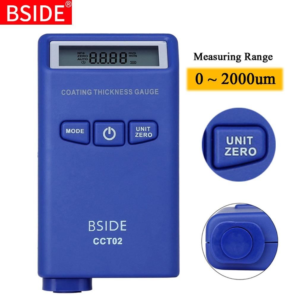Digital Coating Thickness Gauge BSIDE CCT02 Mini Car Paint Thickness Meter Film Paint Coating Tester Eddy current(F+N)