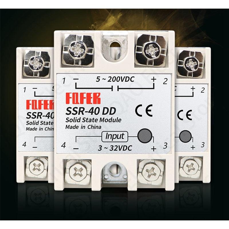 solid state relay SSR-10DD SSR-25DD SSR-40DD SSR-60DD SSR-80DD SSR-100DD actually 3-32 DC TO 5-60 DC SSR relay solid state