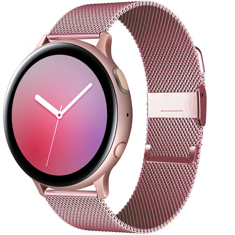 Milanese band For Samsung Galaxy watch Active 2 44mm 40mm/46mm/42mm/3 Gear S3 Frontier 20mm 22mm Huawei watch GT/2/2e/Pro strap