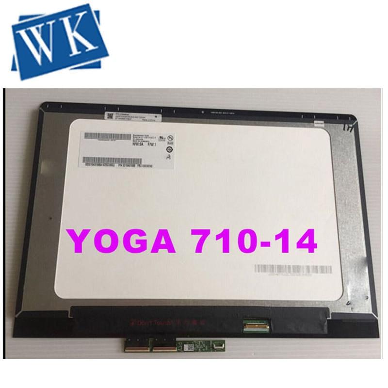 Envío gratis de 14 pulgadas para Lenovo Yoga710-14 Yoga 710 14 YOGA 710-14IKB B140HAN03.0 LP140WF7 LCD de montaje de pantalla táctil 1920*1080