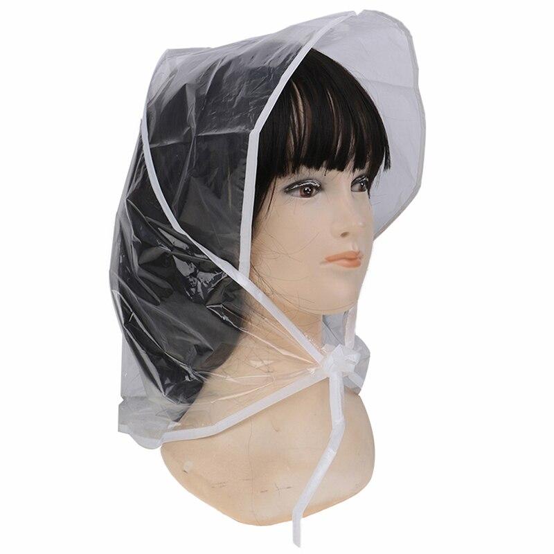 Creativo gorro de plástico para la lluvia, impermeable, para hombres y mujeres, regalos para niños, uso Universal, senderismo, pesca, lluvia, impermeable, sombreros a prueba de viento