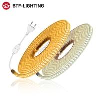 Светодиодная светильник та 220 с высоким уровнем безопасности, гибкая уличная LED полоска 2835 RGB, Водонепроницаемая LED лампа 10 м 20 м, 5050 в