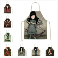 cartoon character baking accessories apron household cooking accessories kitchen housework cleaning antifouling apron kitchen