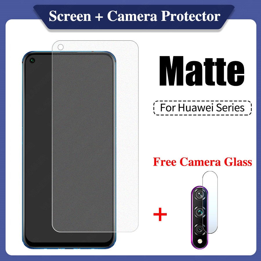 Frosted Matte Screen Protection for Huawei Honor 8a 9a 8x 9x 10 10i Mate 20  Nova 5t P Smart 2019 P20 P30 P40 Lite Pro Glass