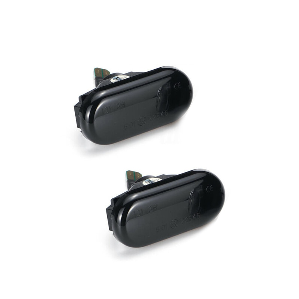 2 uds lámparas de luz dinámica ámbar indicador lateral Indicador de luces intermitentes adecuado para Nissan Navara D40 350Z Qashqai J10 lámpara de señal