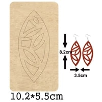 irregular leaf pattern dangle earrings cutting wooden mold hollow out leaf earring wood dies for diy leather cloth paper crafts