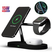 15w Wireless Charger Stand Dock Station For Apple Watch AirPods Pro iPhone 12 Series Magsafe Phone Q