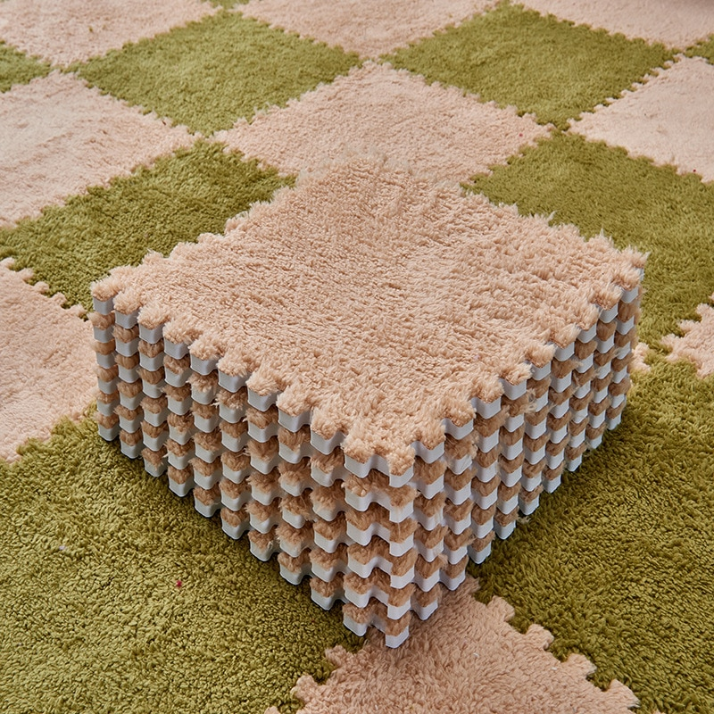 Alfombras plegables para sala de estar alfombras de baño antideslizantes Rosa peluda alfombra grande de felpa suave escalada Cappet alfombra Split