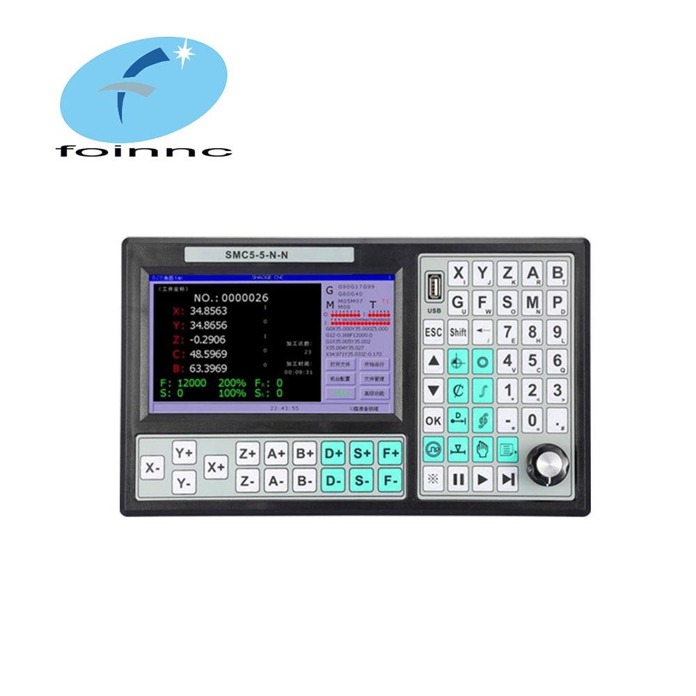 Cnc 5 eixos offline mach3 controlador usb SMC5-5-N-N 500khz g-código 7 Polegada tela grande para máquina de corte de gravura do cnc