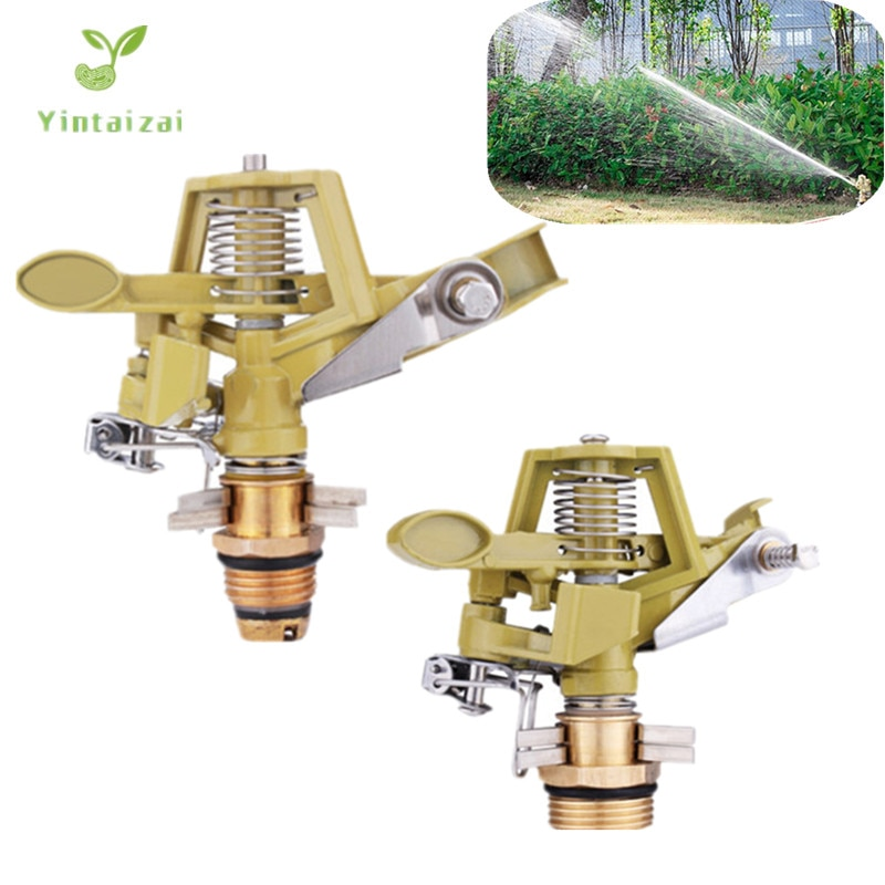 AliExpress - 4PCS 1/2″ 3/4″ Zinc Alloy Impact Sprinkler Head for Watering Large Gardens Hose End Sprinklers Watering Tools Adjustable Angle